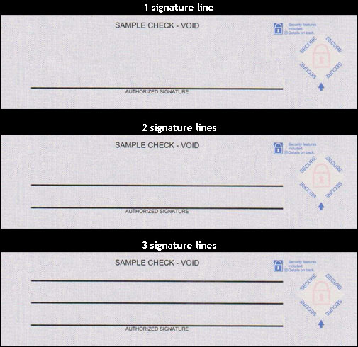 Signature lines on laser checks