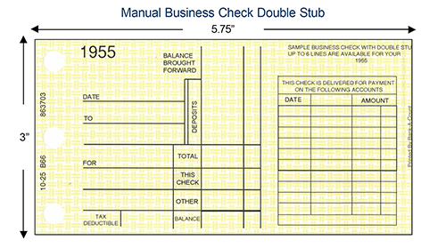 Manual check double stub example
