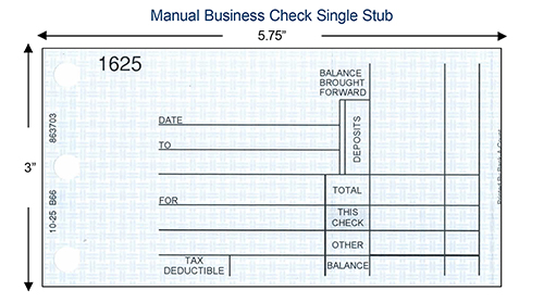 Manual check single stub example