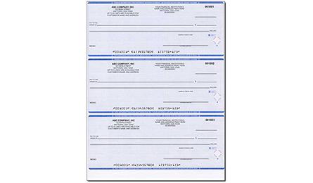Check Price Comparison Blue Computer Checks 3 To A Page