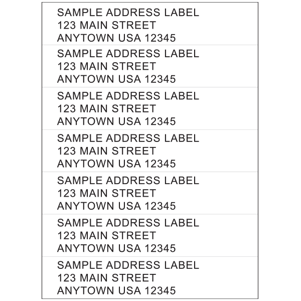Pressure Sensitive Address Labels