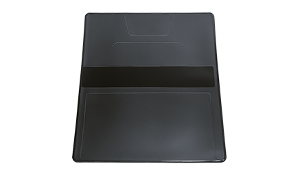 Black Vinyl Checkbook Cover
