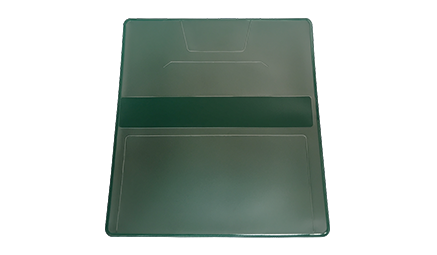 Green Vinyl Checkbook Cover