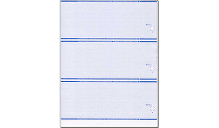 Blank Stock Blue 3 Per Page