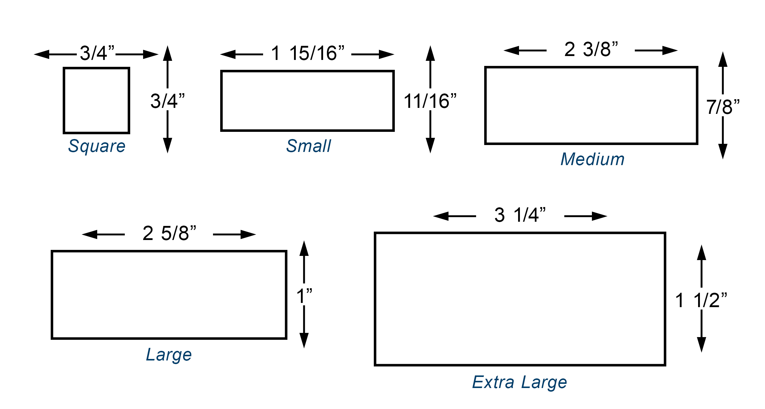 Custom Stamp Sizes