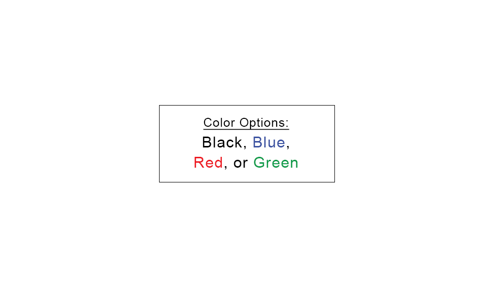 Custom Stamp Color Options