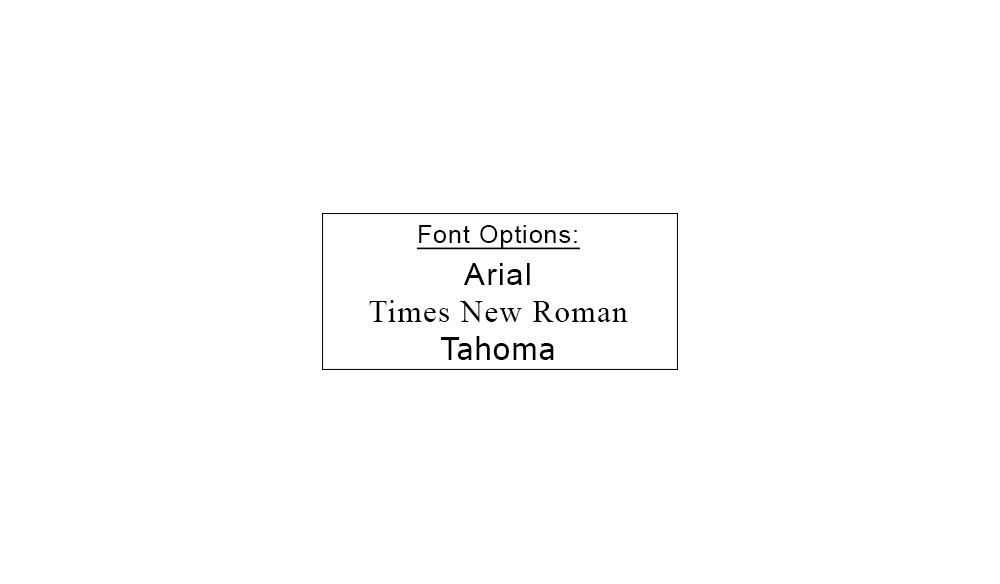 Address Stamp Font Options