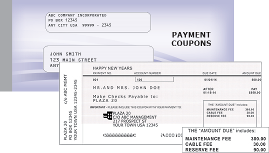 Payment Coupon Book Printing