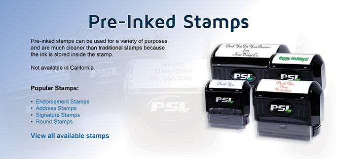 Pre Inked Stamps