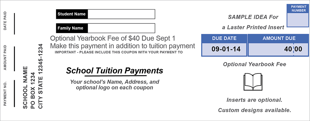 Generic Tuition Coupon Inserts