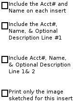 Account and or Name Selection on Insert